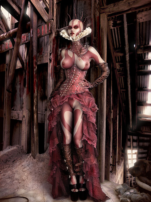 PORTRAIT OF THE RED QUEEN OF THE WASTELAND FOR THE BROKEN HEARTED